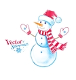 Watercolor snowman vector image vector image