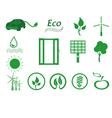 Ecology icon set Eco icons vector image