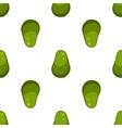 Green avocado fruit pattern vector image