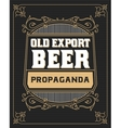 Beer label with old frames vector image