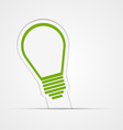 Light bulb sticker vector image