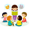 story time vector image