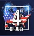 4th july celebration background design vector image vector image