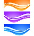 abstract soft light waves set vector image vector image
