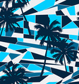 Abstract surf pattern with palm trees seamless vector image vector image