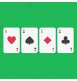 Ace poker cards set vector image vector image