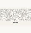arrow banner concept vector image