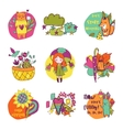 Autumn isolated elements collection vector image vector image