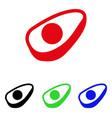 avocado half icon vector image vector image