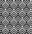 Black and white striped diamonds vector image vector image