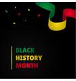 black history month design for banner vector image vector image
