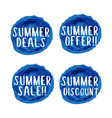 brushed deal and offer summer vector image vector image