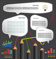 Business idea infographic with icons charts and pe vector image vector image
