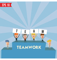 Business man teamwork spirit - - EPS10 vector image vector image