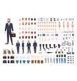 businessman constructor or diy kit set male vector image vector image
