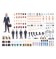 businessman constructor or diy kit set of male vector image