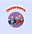 car traffic accident auto insurance concept vector image vector image