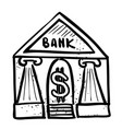 cartoon image of bank icon government symbol vector image