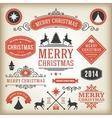 Christmas decoration design elements collec vector image vector image