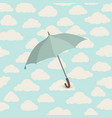 cloud pattern umbrella rainy weather sky seamless vector image vector image