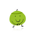 coconut funny character for your design vector image vector image