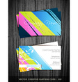 colorful business card vector image