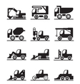 Construction trucks and vehicles vector image vector image