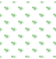 Cup of green tea pattern cartoon style vector image vector image