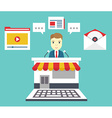 Customer Relationship Management Means of vector image