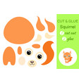 cut and glue basquirrel education developing vector image vector image
