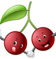 cute cherry with face vector image vector image