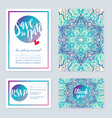 delicate wedding invitations in ethnic indian vector image vector image