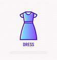 dress thin line icon vector image vector image