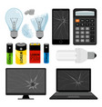 e-waste icons collection vector image vector image