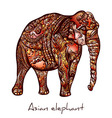 Elephant doodle vector image
