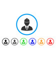 engineer rounded icon vector image