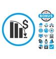 Epic Fail Chart Flat Icon with Bonus vector image vector image