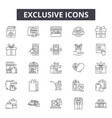 exclusive line icons signs set outline vector image vector image
