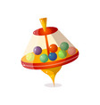 futuristic whirligig with colorful balls in vector image
