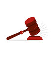 gavel judge isolated on a white background wooden vector image