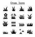 grass icon set graphic design vector image