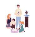 happy family spending time together funny mom vector image