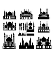islamic buildings silhouettes vector image