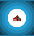 isolated ranch flat icon shed element can vector image