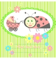 ladybird mom and baby card vector image