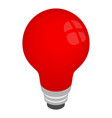 Light red bulb icon isometric 3d style vector image vector image