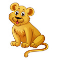 Little lion with happy face vector image vector image