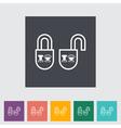 Locking doors vector image