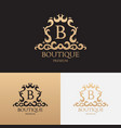 logo template luxury boutique brand vector image