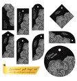 luxurious lace tag set for gifts and goods vector image vector image